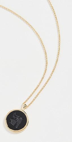 TOM WOOD - Eros Onyx Pendant Necklace