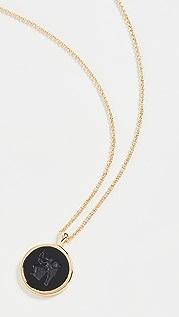 TOM WOOD Eros Onyx Pendant Necklace