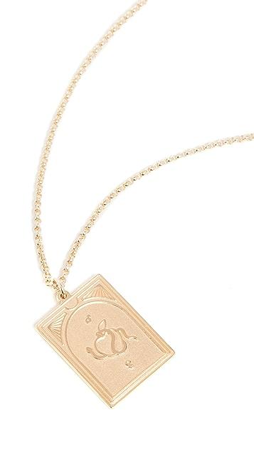 TOM WOOD Tarot Lovers Pendant Necklace