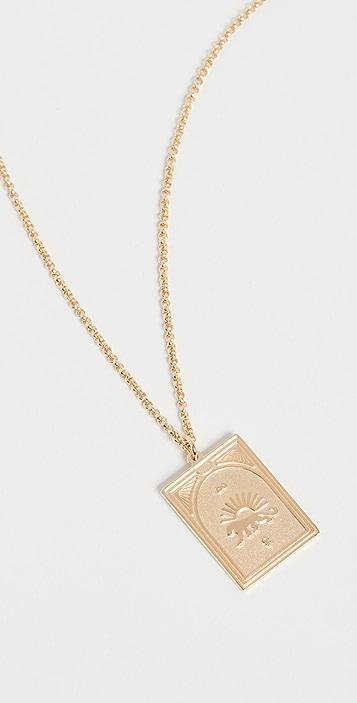 TOM WOOD Tarot Strength Pendant Necklace