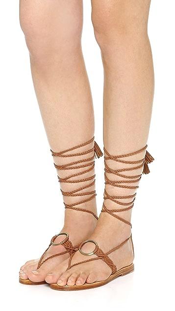 Ulla Johnson Javi Lace Up Flat Sandals