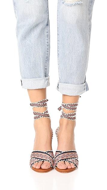 Ulla Johnson Rowena Handloom Block Heels