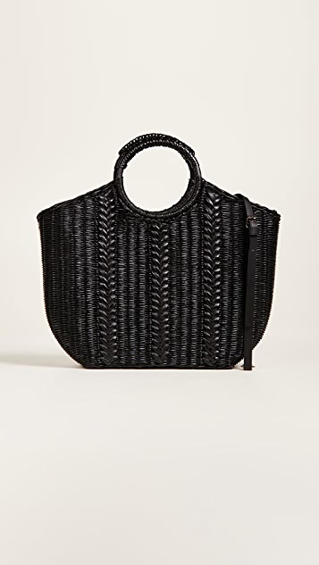 Ulla Johnson Amyris Mini Wicker Tote