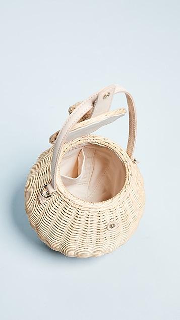 Ulla Johnson Tautou Wicker Basket Bag