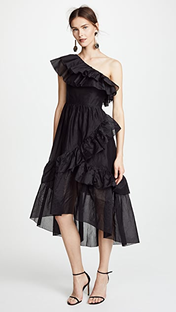 Gorgeous ruffled black dress