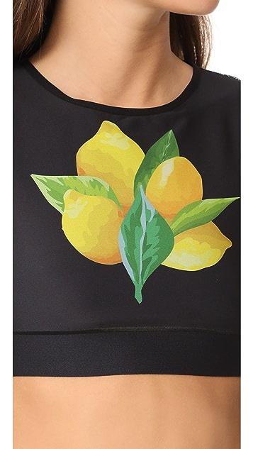 Ultracor Level Lemon Crop Top