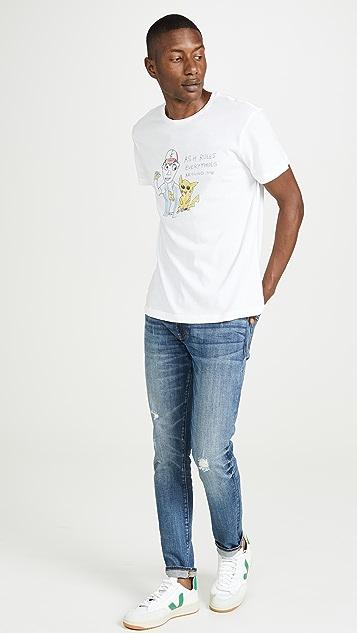 Unfortunate Portrait Short Sleeve Ash Rules T-Shirt