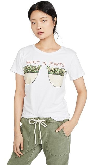 Unfortunate Portrait Breast In Plants Tee