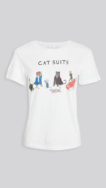 Unfortunate Portrait Cat Suits Tee