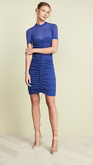 Unravel Project Hybrid Lace Up Dress