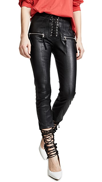 Unravel Project Skinny Lace Up Pants