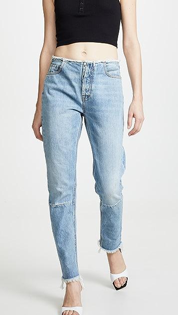Unravel Project High Rise Boyfriend Jeans - Light Blue