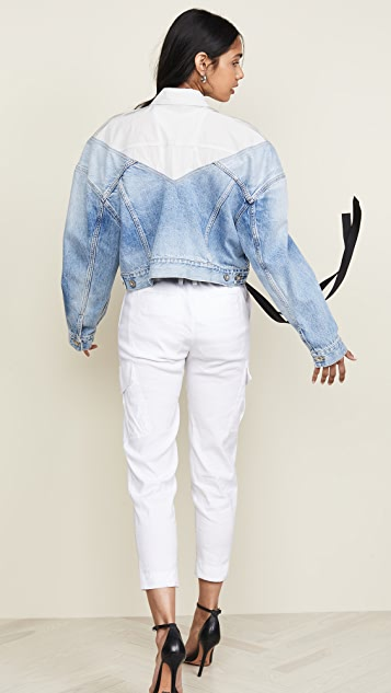 Unravel Project Hybrid Chopped Denim Jacket
