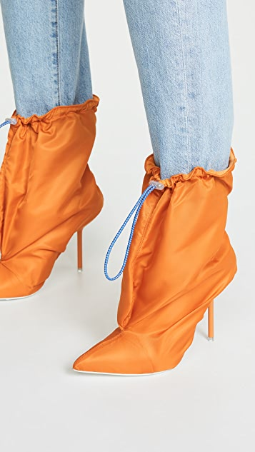 Unravel Project Mule Stiletto Booties