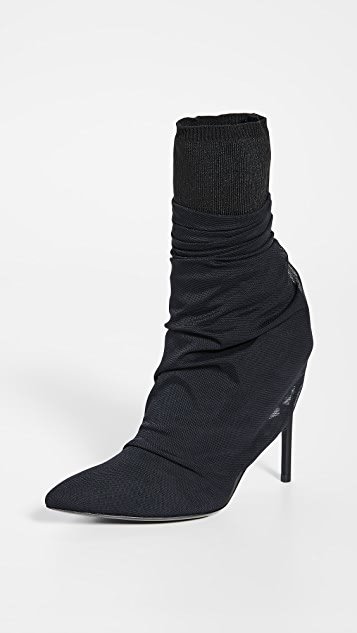 Unravel Project Tulle Broken Heel Boots