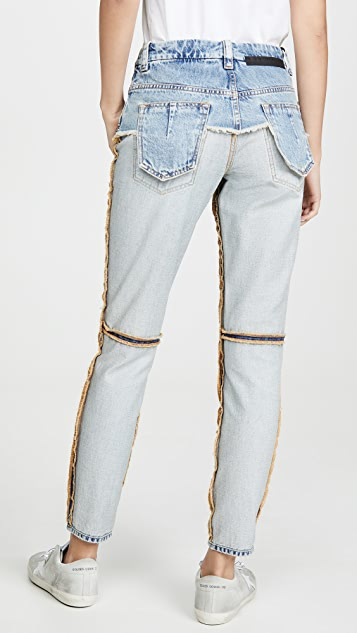 Unravel Project Corset Inside Out Skinny Jeans