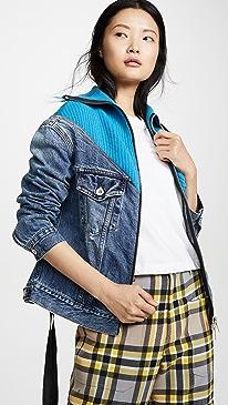 Hybrid Knit Denim Jacket
