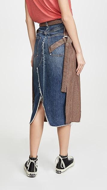 Unravel Project Клетчатая юбка с запахом