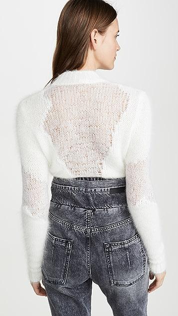 Unravel Project 圆领羊毛针织衫