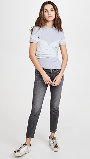 Unravel Project Viscose Stretch Wrap T-Shirt