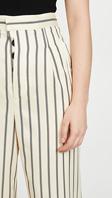 Unravel Project Striped Wide Leg Pants