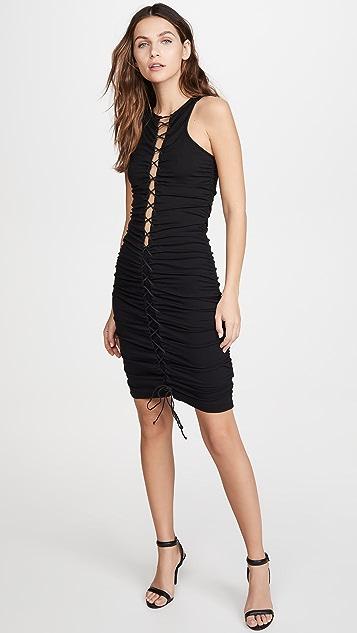 Unravel Project Viscose Lace Up Dress