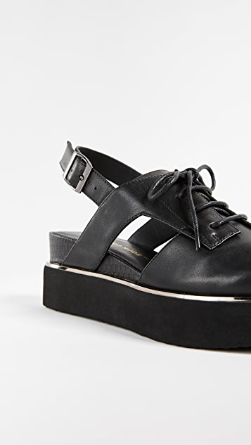 United Nude Miku Slingback Platform Oxfords
