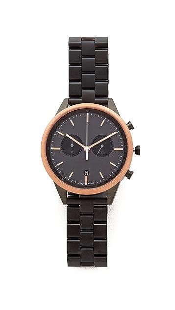 Uniform Wares C41 PVD Rose Gold Chronograph Watch