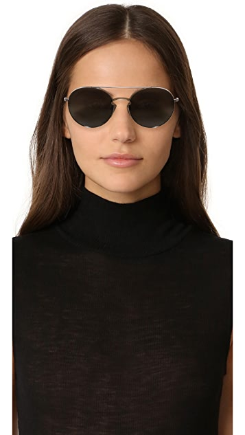 Valentino Rock Loop Round Sunglasses