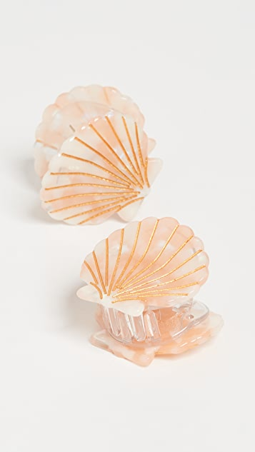Valet Set of 2 Ursula Shell Clips