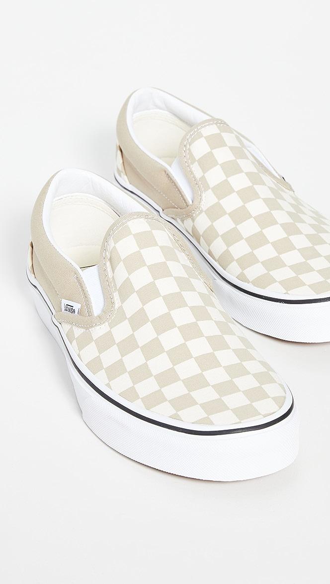 Vans Classic Slip On Checkerboard Sneakers | EAST DANE