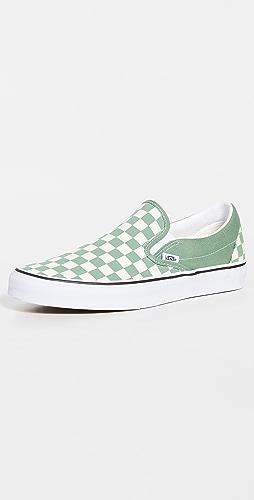 Vans - Classic Slip On Checkerboard Sneakers