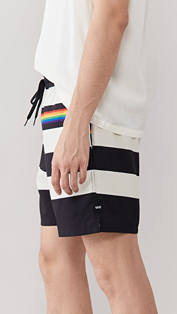 Vans Pride Collection Striped Volley Shorts