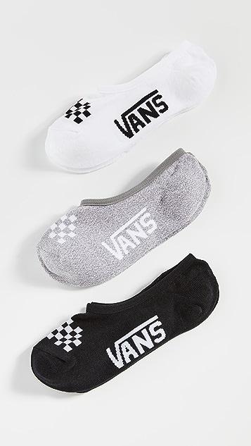 Vans 女士 3 双装经典组合 Canoodle 袜子