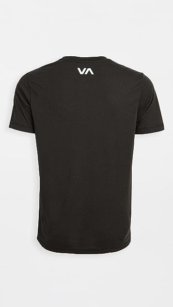 RVCA Sport VA Sport Mid Bar Short Sleeve Tee