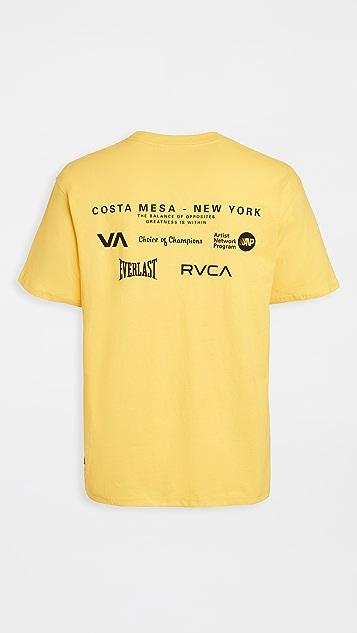 RVCA Sport VA Sport Everlast CM NY M Tee