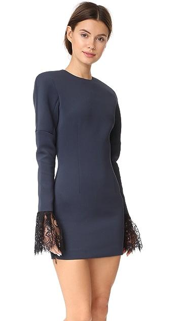 Vatanika Lace Trimmed Mini Dress