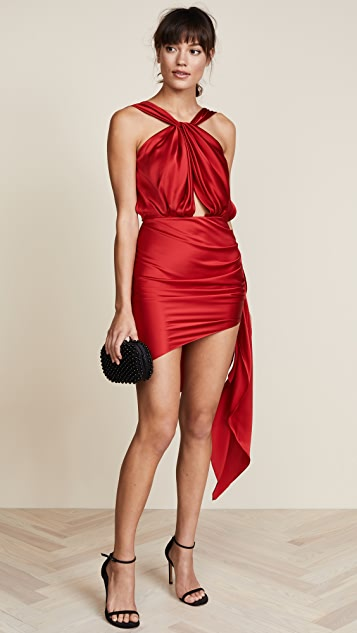 Vatanika Sleeveless Dress with Ruched Skirt