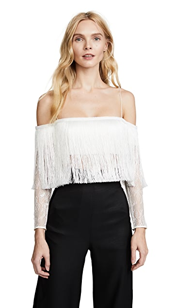 Vatanika Lace Fringe Top