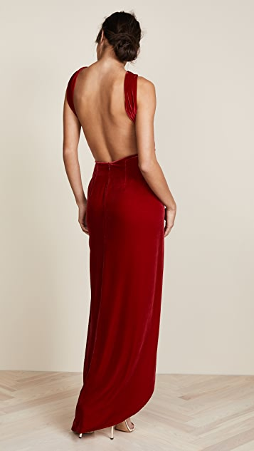 Vatanika Velvet Maxi Dress
