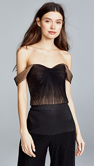 Vatanika Pleated Tulle Top