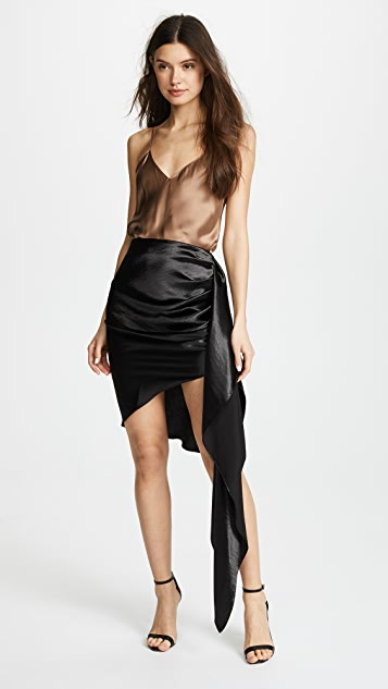 Vatanika Hammered Satin Draped Skirt