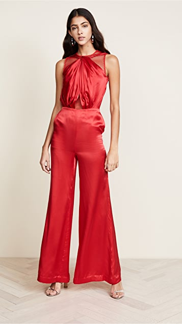 Vatanika Draped Silk Jumpsuit