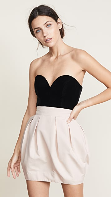 Vatanika Strapless Bustier Dress