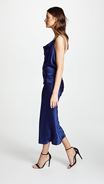 Vatanika Draped Backless Slip Dress