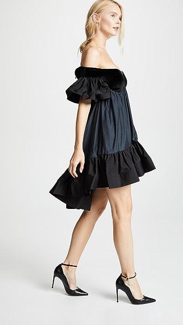 Vatanika Ruffled Velvet Dress Shopbop