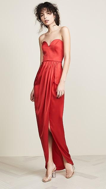 Vatanika Draped Silk Gown