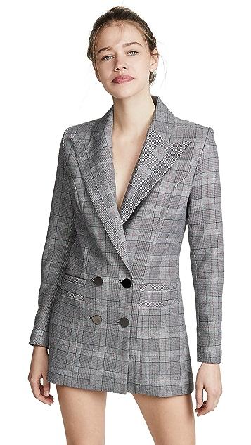 Vatanika Checked Blazer Dress