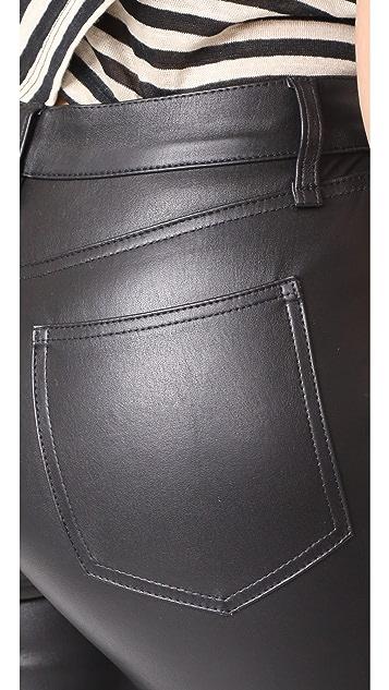 Veronica Beard Jean Kate Leather Skinny Jeans