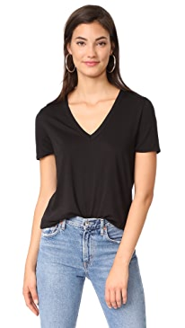 Cindy V Neck High Low Tee